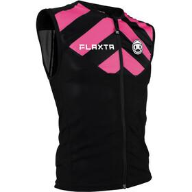 Flaxta Behold Gilet Protecteur Dorsal Enfant, black/bright pink